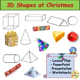 3D Shapes Christmas Activity, Story Text, Presentation, Worksheets