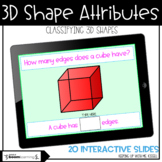 3D Shapes   Classifying Attributes   Boom Cards™   Distance Learning