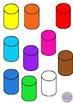 3D Shapes Clip Art Illustrations 7 Shapes in 10 Colors