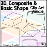 3D Shapes & Composite Shape Clip Art Bundle for Middle Sch
