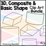 3D, Composite & Basic Shape Geometry Clip Art Bundle for M