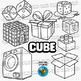3D Shapes Clip Art: Cubes