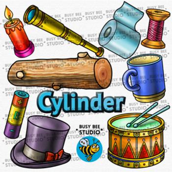 3D Shapes Clip Art: Cylinders