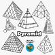 3D Shapes Clip Art:Pyramids