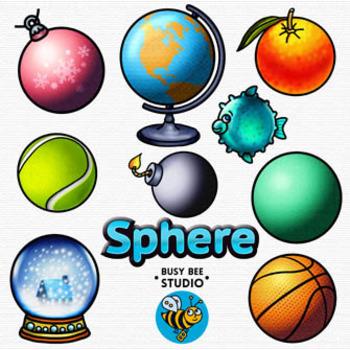 3D Shapes Clip Art: Spheres