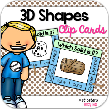 3D Shapes in the Real World Clip Cards