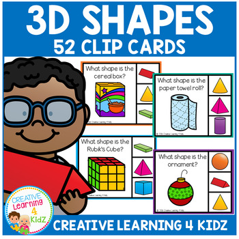 3D Shapes Clip Cards