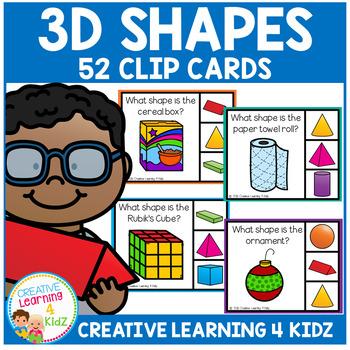 3D Shapes Clip Cards