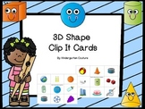 3D Shapes (Clip It Cards)