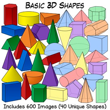 3d shapes clipart teaching resources teachers pay teachers rh teacherspayteachers com 2d and 3d shape clipart 3d shape clip art free