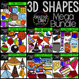3D Shapes Clipart Bundle {Creative Clips Digital Clipart}