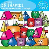 3D Shapes Clipart - Scrappy Shapies