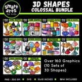 Math 3D Shapes Clip Arts COLOSSAL Bundle