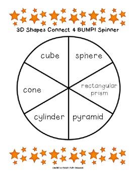 3D Shapes Connect 4 BUMP!