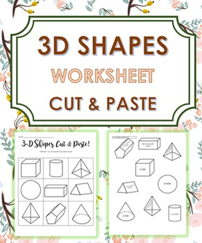 3D Shapes (Cut and Paste)