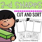3-D Shapes Cut and Sort