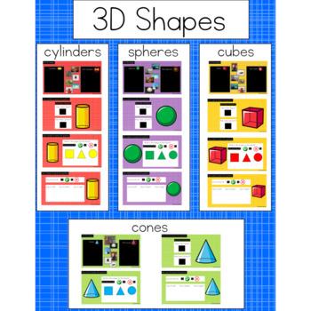 3D Shapes: Digital Activities for Google Classroom