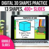 3D Shapes Digital Math Games Activities Spring Google Slid