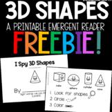 3D Shapes Emergent Reader FREEBIE
