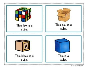 3D Shapes Emergent Reader: This is a Cube