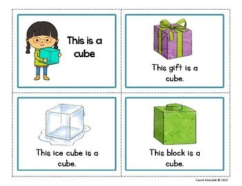 This is a Cube: 3D Shapes Emergent Reader (Geometric Solids)