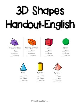 3D Shapes-English Color