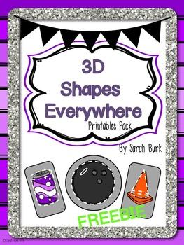 3D Shapes Everywhere! - Freebie