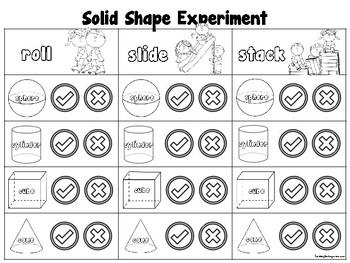 3D Shapes Experiment Sheet