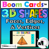 3D Shapes Faces Edges & Vertices Boom Cards Distance Learning
