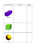 3D Shapes - Faces Tracing Activity