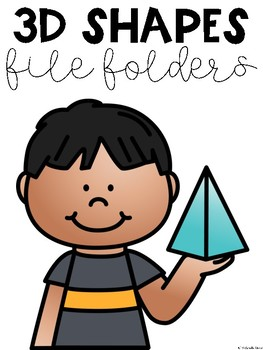 3D Shapes File Folder Tasks