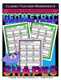 3D Shapes - Find Number of Faces, Edges, & Vertices - Grad