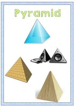 3D Shapes Flashcards and Worksheet