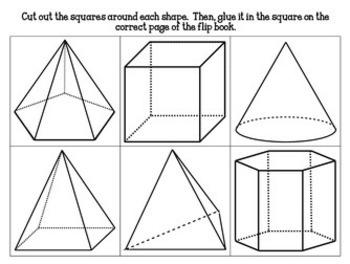 3D Shapes Flip Book