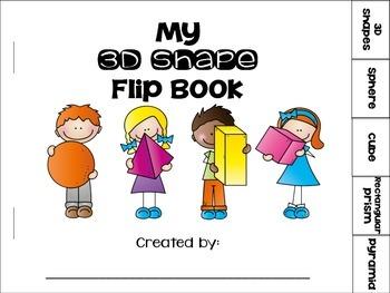3D Shapes Flip Book {sphere, cube, rectangular prism, pyramid}