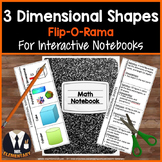 3D Shapes Interactive Notebook Vocabulary