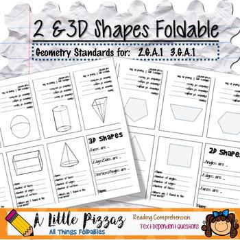 2D & 3D Shapes Foldable Organizer
