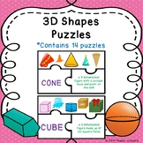 Sorting 3D Shape Attributes of 3-D Shapes Vocabulary Game Puzzles