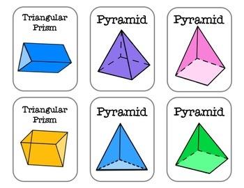 Shapes Go Fish!- 2D & 3D Shapes Geometry Math Center BUNDLE!!!!