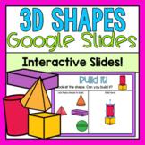 3D Shapes Google Slides (Distance Learning)