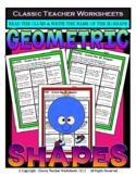 Guess the 3D Shapes-Read Clues & Write Shape Names Grades 3-6 (3rd-6th Grade)