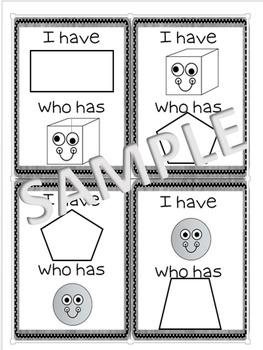 "3D Shapes ""I Have"" Cards"