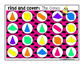 3D Shapes:  Identifying 3D Shapes Find and Cover Activities