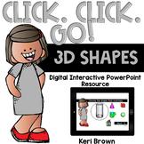 3D Shapes Interactive PowerPoint Math Center - Click Click Go!