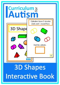 3D Shapes Interactive Adapted Math Book, Autism, Special Education