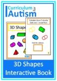 3D Shapes Book Autism Special Education