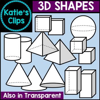 3D Shapes {Katie's Clips Clipart}