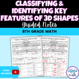 3D Shapes Key Features/Characteristics - Classifying & Identifying Guided Notes