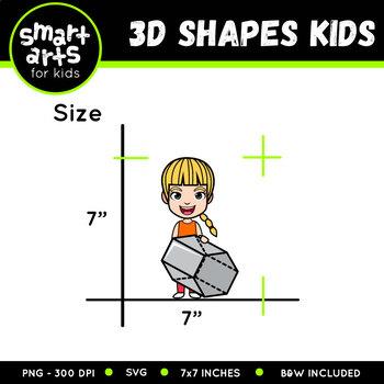 3D Shapes Kids Clip Art