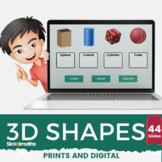 3D Shapes Kindergarten Digital Activities
